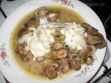 """Plicuri"" cu fasole verde,ciuperci si branza de capra"