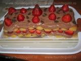 Piscoturi cu ciocolata si capsuni