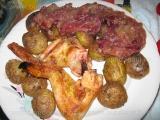Aripi de pui si cartofi,la grill «3/3»