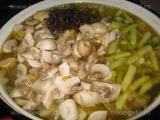 Supa de pui cu fasole si ciuperci «1/3»
