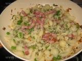 Spaghete cu mazare si bacon «2/3»