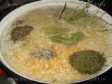 Ciorba de fasole cu ardei si afumatura «1/3»