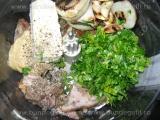 Pasta de carne cu ceapa si usturoi copt «2/3»