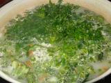 Supa de broccolini cu lapte de cocos «2/3»