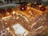 Tort de biscuiti cu ciocolata si halva