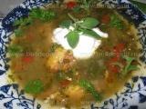 Supa de pui cu frunze de morcov «3/3»