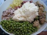 Salata de legume cu carne si hrean «1/3»