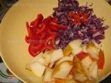 Salata de varza alba si rosie,cu merisoare «2/3»