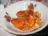 Spaghete cu creveti si sos de rosii
