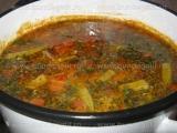 Supa picanta de creveti,cu bame «2/3»