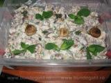 Salata de ciuperci la gratar,cu maioneza si usturoi «2/3»